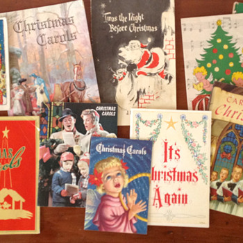 My Vast Collection of Vintage Christmas Carol Booklets