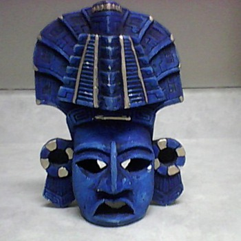 AZTEC POTTERY WALL MASK - Folk Art