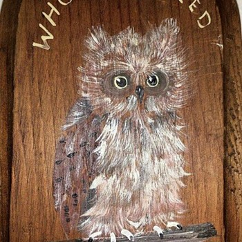 Look WHOOooo called........... - Folk Art