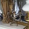 Antique queen ann oil lamp