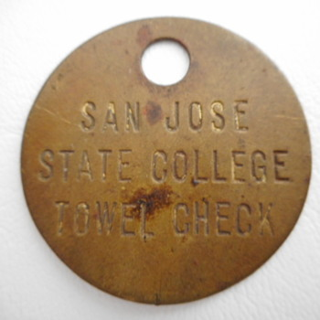 San Jose State College Towel Check Token - US Coins