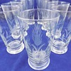 Etched Glass Tumblers with Wheat Pattern