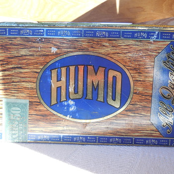 Vintage HUMO Cigar Tin Box MazerCigar Mfg. Co.  Flea Market Find - Tobacciana