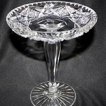 American Brilliant Cut Glass Compote - Glassware