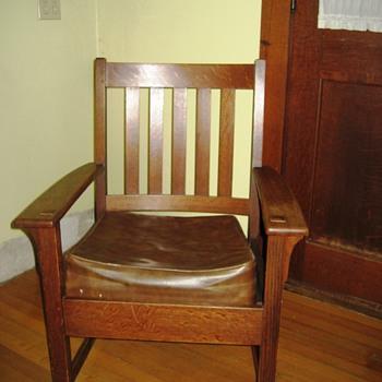 Mission Oak Chair - Furniture