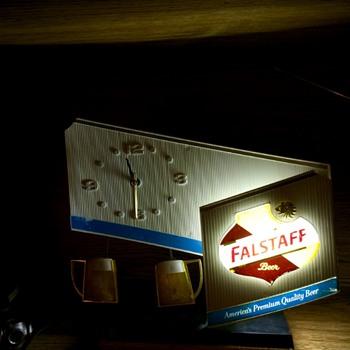antique store find in Branson, Missouri. Falstaff clock light