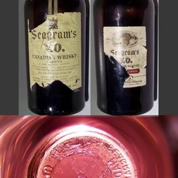 Modern Seagrams V.O. Plum Purple 1 Gallon Whiskey Bottle