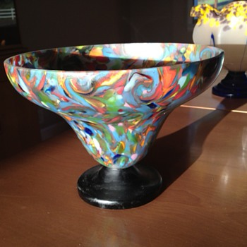 Large Kralik or Ruckl bowl - Art Glass