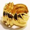 Vintage Ciner Modernist Sculptural Swirl Bangle