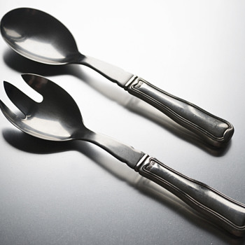 Georg Jensen 'Old Danish' sterling silver salad servers - Silver