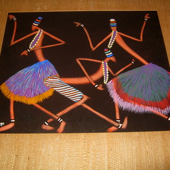 Painting by listed Artist Jacques Zigoma-Congo 1936-1987
