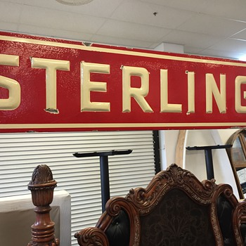 "Ceramic ""STERLING"" sign"
