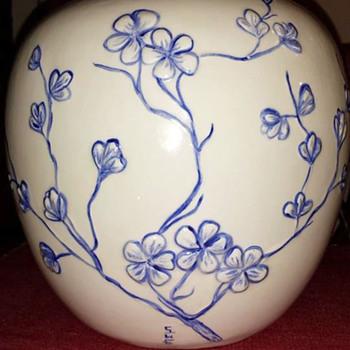 Cherry Blossom Vase - Pottery