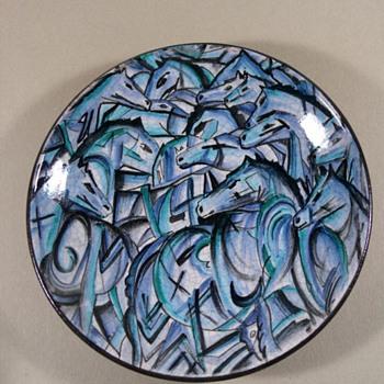 hans eder wall plate austria - Pottery