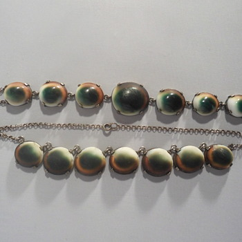 Operculum necklace and bracelet - Fine Jewelry