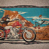 Old cloth of biker lightning bolts very old!