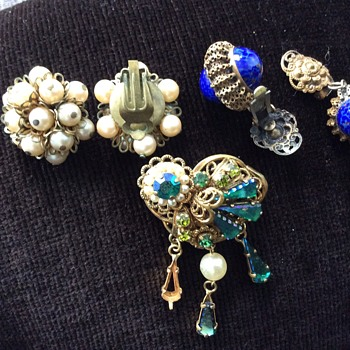 Czech glass Bohemia jewelry - Costume Jewelry