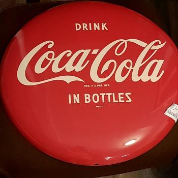 """16"""" button coke sign - Coca-Cola"""