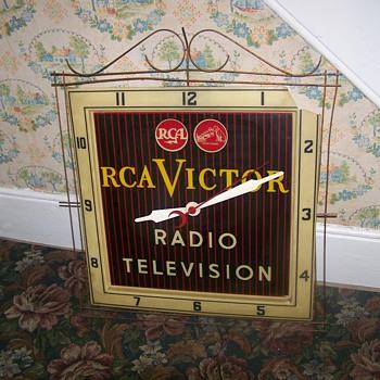 Vintage R C A Victor Clock Radio Television - Advertising