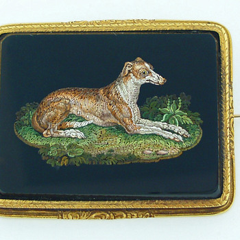 Micromosaic Dogs circa 1820s-1830s