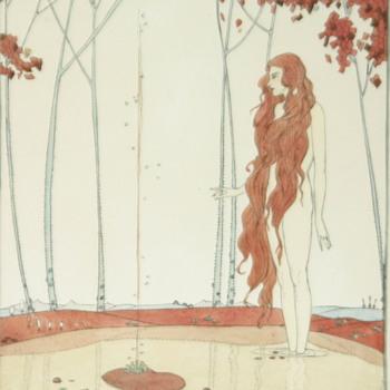 Anyone know who painted this amazing Art Nouveau or Art Deco watercolor...?? - Art Nouveau