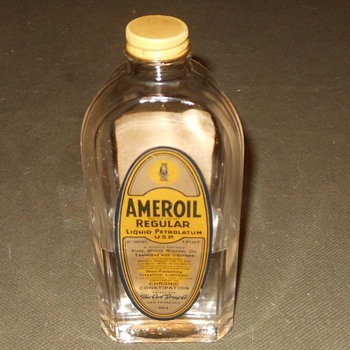 Vintage Bottle Ameroil Intestinal Lubricant  - Bottles