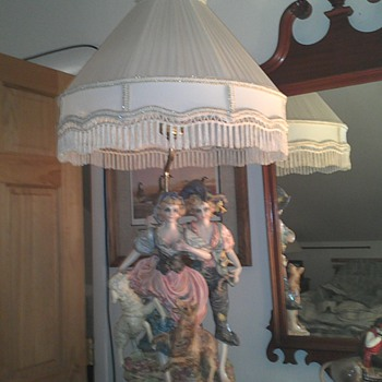 Im not sure what year this lamp is from. I have two, their matching pairs. their about two feet high, without the lampshade.