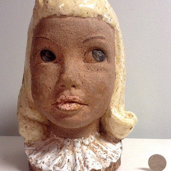 Rare Janice and Paul Pettee Pottery Bust - Pottery