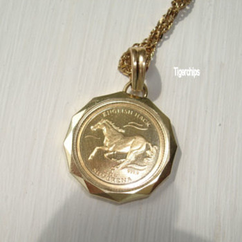 Bosnian gold coin and pendant