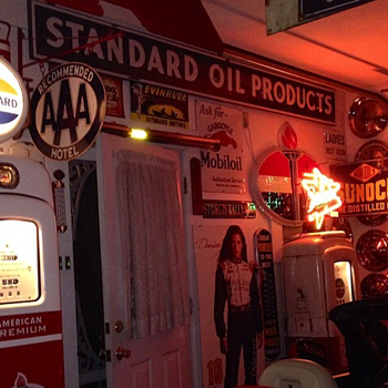 Standard Oil Products Porcelain Sign...Two Colors - Petroliana