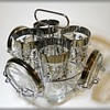 Vintage Highball Glasses & Coasters ( with Caddy ) - KIMIKO