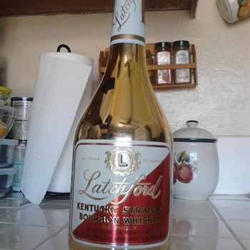 Latchford 5oth (1917-1967) Golden Anniversay Whiskey bottle