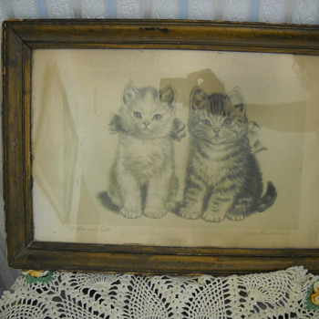 OLD BROTHER & SISTER CAT PRINT - Posters and Prints