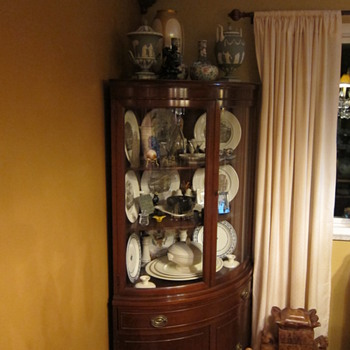 China Cabinet with Wedgwood China