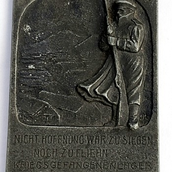 WWI German Sibera POW Plaque - Military and Wartime