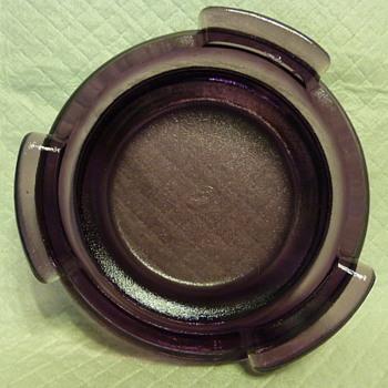 Fenton Glass amethyst plinth/stand - Glassware