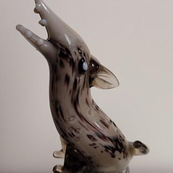 Blown Glass Hyena Bottle Stopper  - Art Glass
