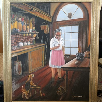 Vintage Signed B. Ducommun Framed Canvas Painting  - Fine Art