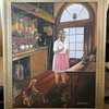 Vintage Signed B. Ducommun Framed Canvas Painting
