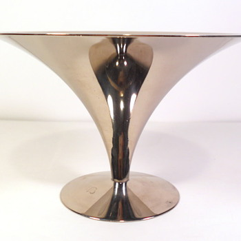 Saarinen Silver or Chrome Comport - Mid-Century Modern