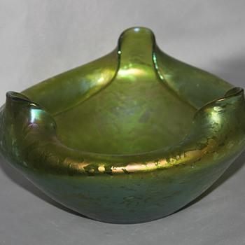 Green Oilspot - Art Glass