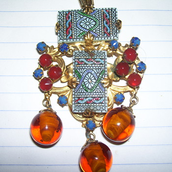 Schreiner New York vintage necklace - Costume Jewelry
