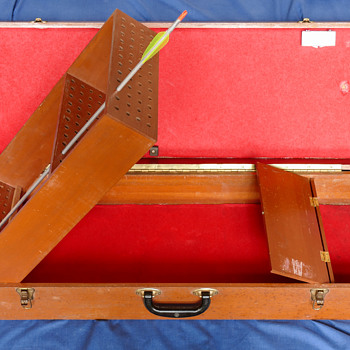 Vintage Wood Arrow Case, Mid-Century - Sporting Goods