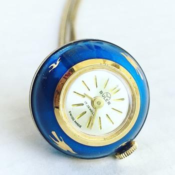 Vintage BULER Watch Co. Swiss 17 Jewel Watch Ball - Fine Jewelry