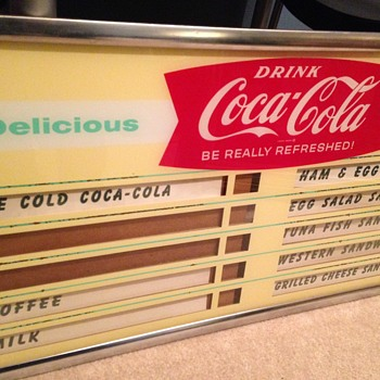 1960's Coca-Cola Menu Board - Coca-Cola
