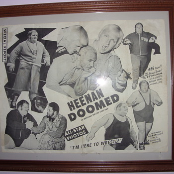 1970s bobby heenan promotinal poster - Posters and Prints