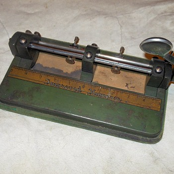 Wilson-Jones Co. Improved Hummer Three Hole Punch - Office