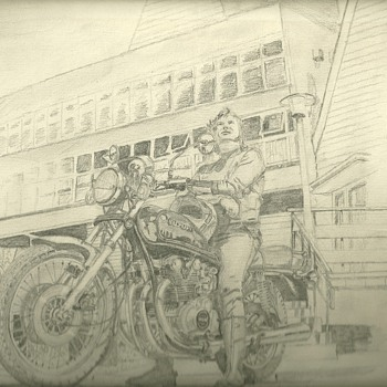 Sketch by me at 16 years old - Motorcycles