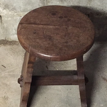 Old looking  wooden stool. - Furniture