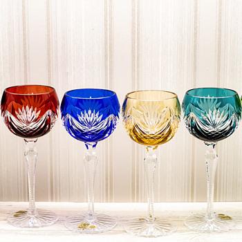 Bohemian crystal wine glasses Janette 190ml - Art Glass